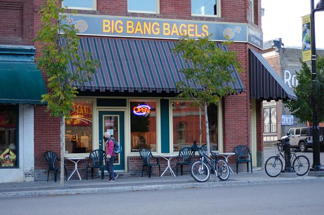 Big Bang Bagels 2nd Avenue Location in Fernie